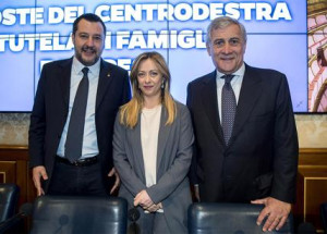 Salvini Meloni Tajani